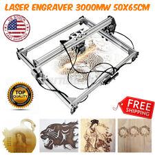 3000mw Cnc Area Laser Engraving Machine Printer Kit Desktop Gift Diy Cutter Us