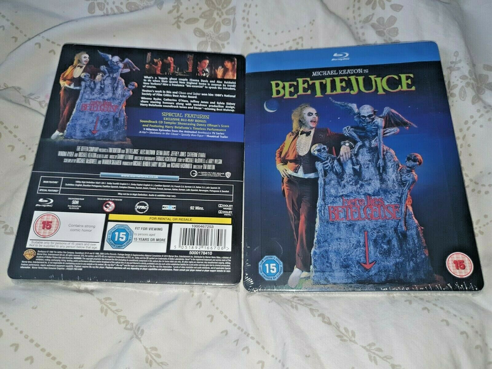 Beetlejuice Zavvi Limited Edition Blu Ray Steelbook Regions A B