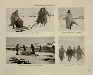 IngéNieux 1916 Wwi Ww1 Imprimé Allemand Magazine Guerre Position Froid Soldat Espion