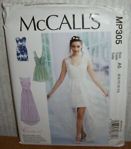 241ddd9f Details about Womens/Misses Dresses Prom Evening Sewing Pattern/McCall's  MP305/SZ 6-14/UCN