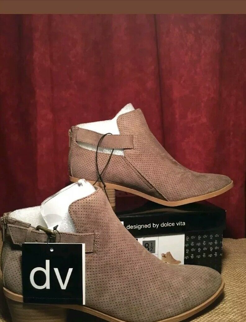 6da893a2c33d DV designed By Dolce Vita Women s Taupe Sam Perforated Perforated  Perforated Boot Bootie Size 8.5 -NEW 30ecdb
