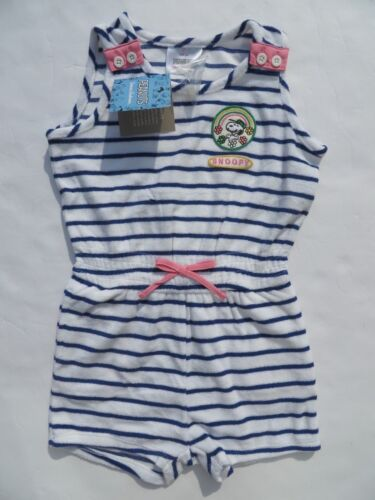 Hanna Andersson 100 120 Girls Peanuts Camp Romper Jumpsuit Cover-up NEW Snoopy 4