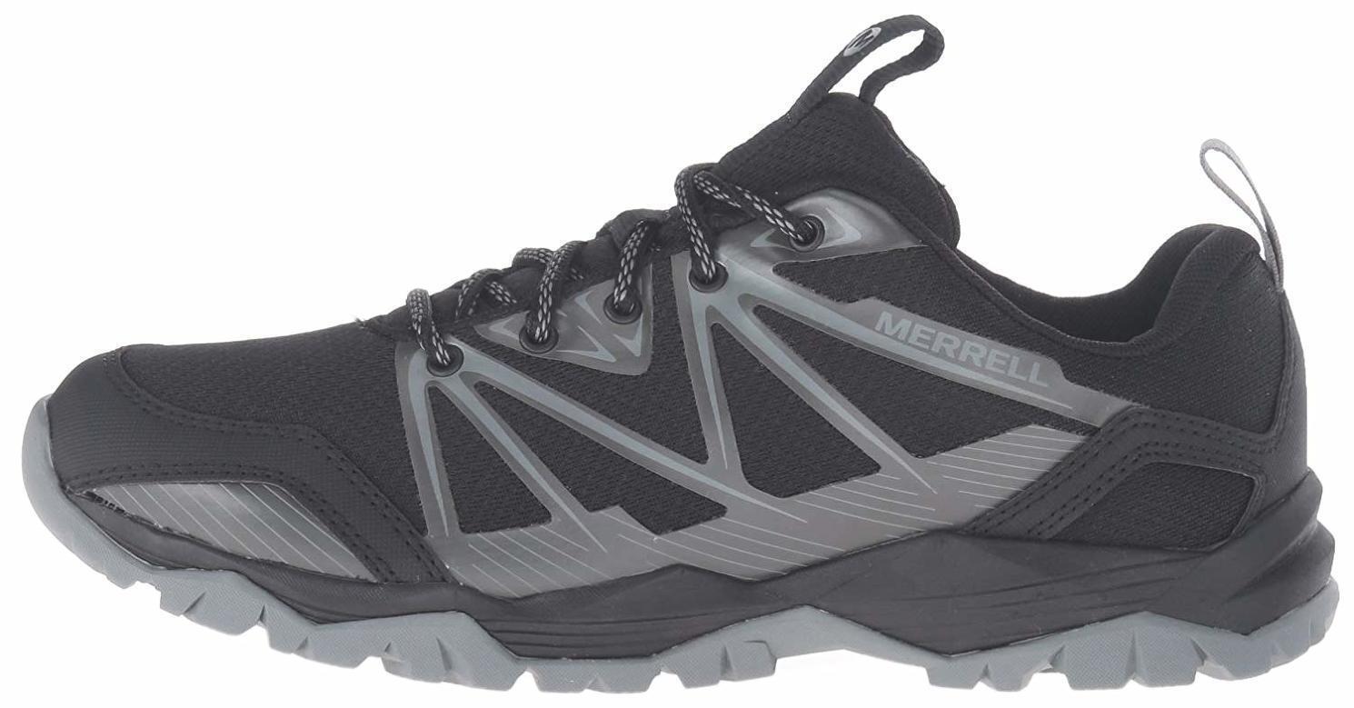 Para mujeres Zapatos Merrell Capra subida Trail Running Talla 5 5 5 Negro gris gris J36868  nuevo sádico