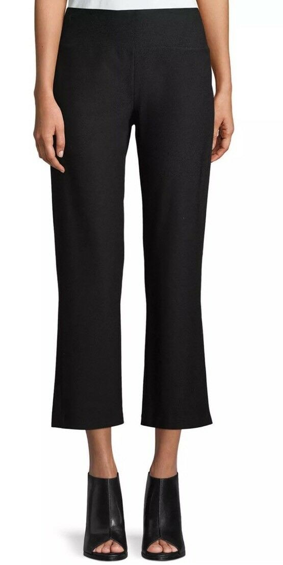 MEDI NWT EILEEN FISHER (ASH) WASHABLE STRETCH CREPE Stiefel CUT PANTS WITH SLITS