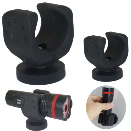 Round Base Magnet Fastener with Rubber 2x Magnetic Mount Holder for Flashlight