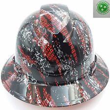 New Custom pyramex (Full Brim) Hard Hat W/ratchet suspension CARBON FIBER CAMO