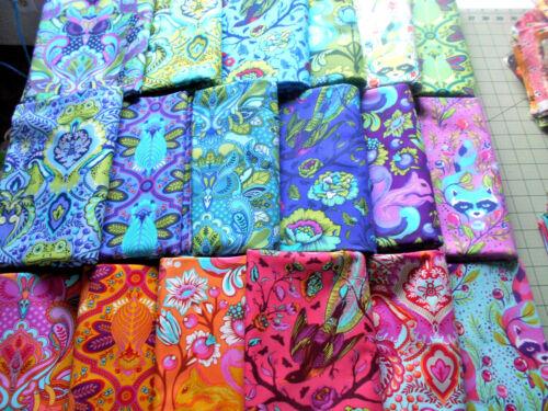 18 pc Set 9 x11~ ALL STARS~Tula Pink Cotton Quilt Fabric~Animal OWL RACCOON FROG
