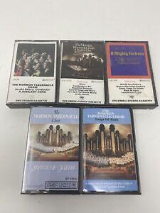 Mormon-Tabernacle-Choir-lot-of-7-different-cassettes-RARE-COLLECTION-VINTAGE