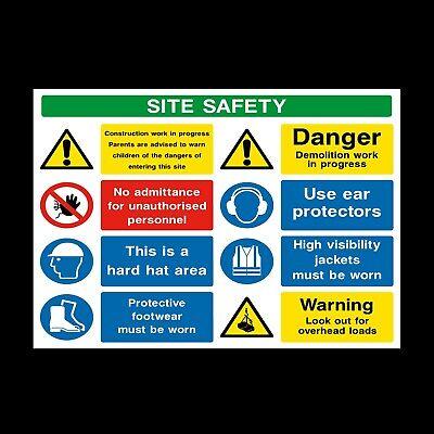 de espesor de materiales! css41 Sitio de seguridad letreros de edificios y pegatinas Grandes Tamaños
