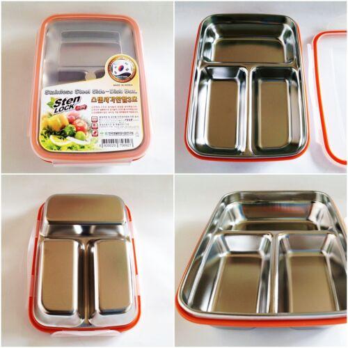 Rectangle stenlock Acier Inoxydable Food Container Lunch plat Boîte Hermétique