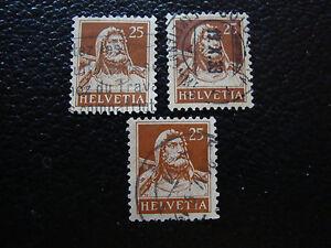Switzerland-Stamp-Yvert-and-Tellier-N-204-x3-Obl-A14-Stamp-Switzerland