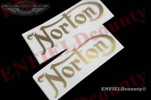 NEW-PAIR-GOLDEN-TANK-VINYL-STICKERS-NORTON-16H-ES2-COMMANDO-MOTORCYCLES-DE