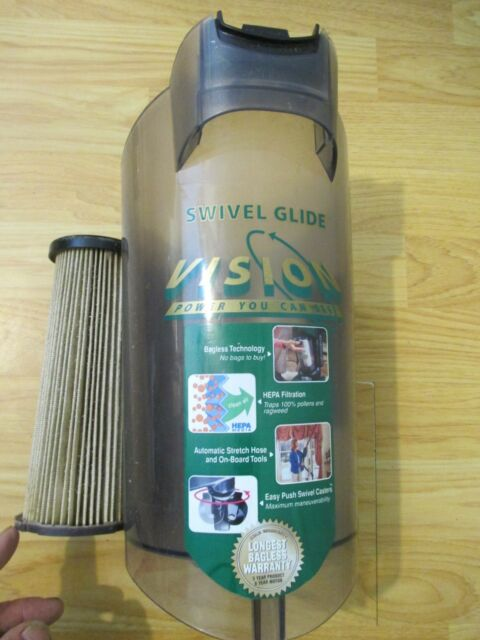 Dirt Devil Swivel Glide Vision Bagless Vacuum Canister W Hepa Filter Used For Sale Online