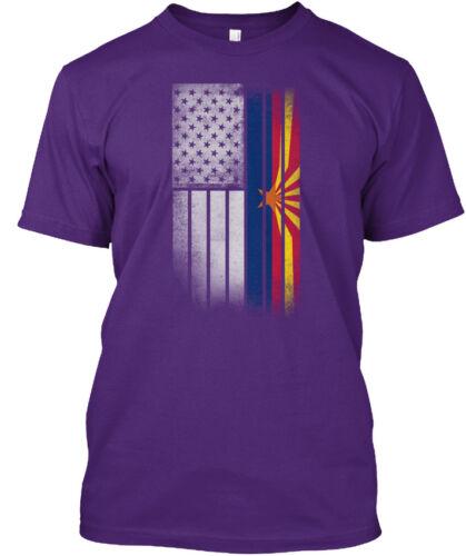 Usa Vintage Arizona State Flag Hanes Tagless Tee T-Shirt