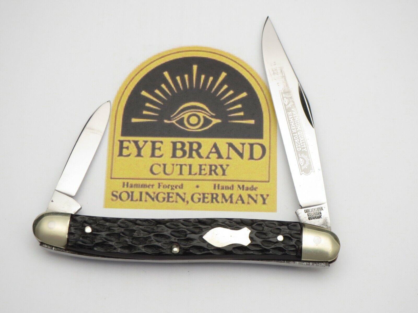 Vintage EYE BRAND Solingen Serpentine Double End Knife Bone Handles Near Mint