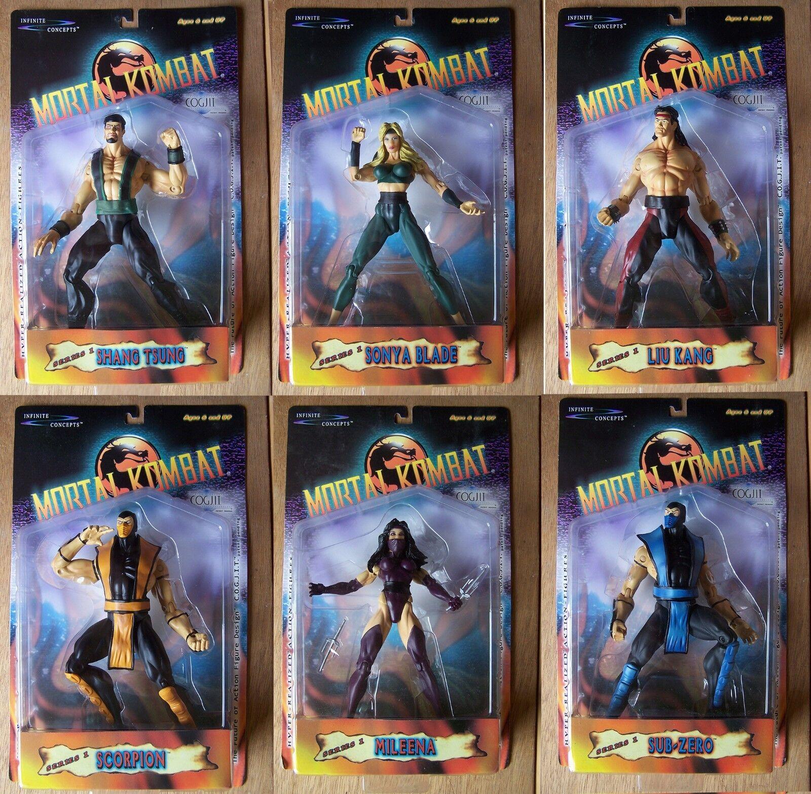 Mortal Kombat FULL SET 6 MOC Infinite Concepts 2000 7.5  8.5  SUPER RARE OFFER