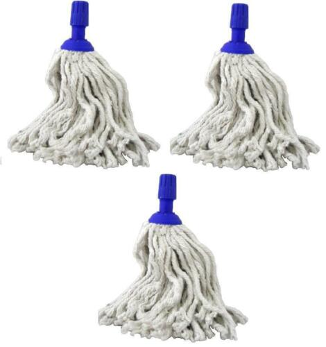 3X Wet Mop 100/% Cotton 240G Oval Plastic Clean And Clear Finest Quality