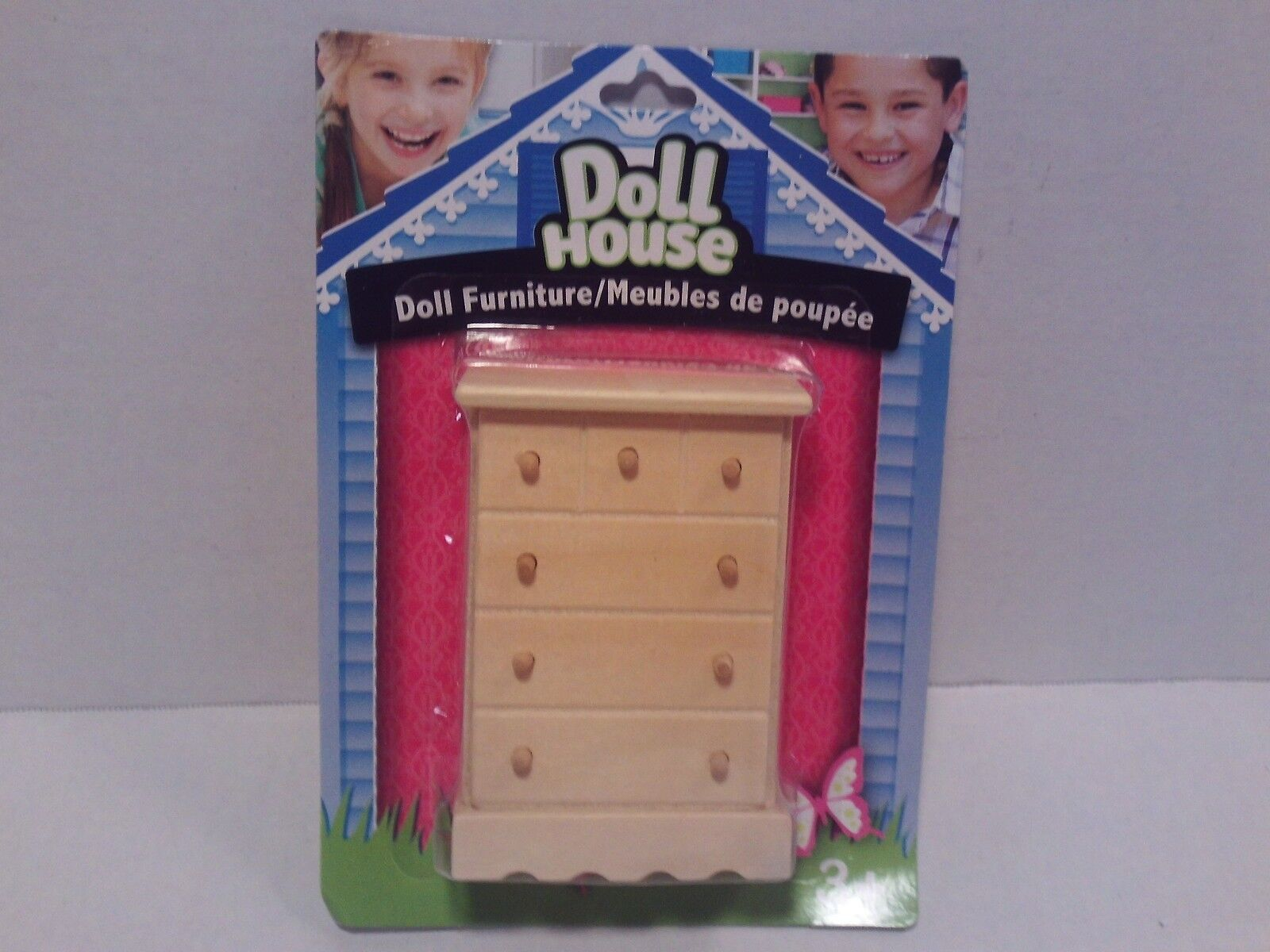 "/""Chest/"" Girls Pretend Play Doll Toy Game Arts//Craft Wooden Dollhouse Furniture"