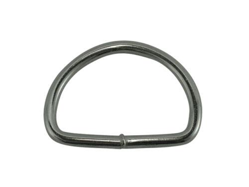 vernickelt 10 Stück 50mm D-Ringe geschweißt aus 5,0mm dickem Stahl