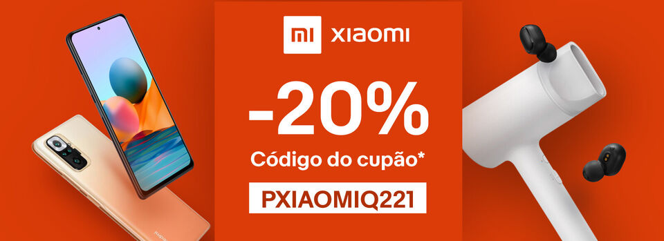 PXIAOMIQ221 - Poupe 20% em produtos Xiaomi