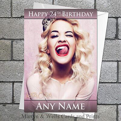 Personalised Rita Ora Popstar// Birthday Greeting Card A5