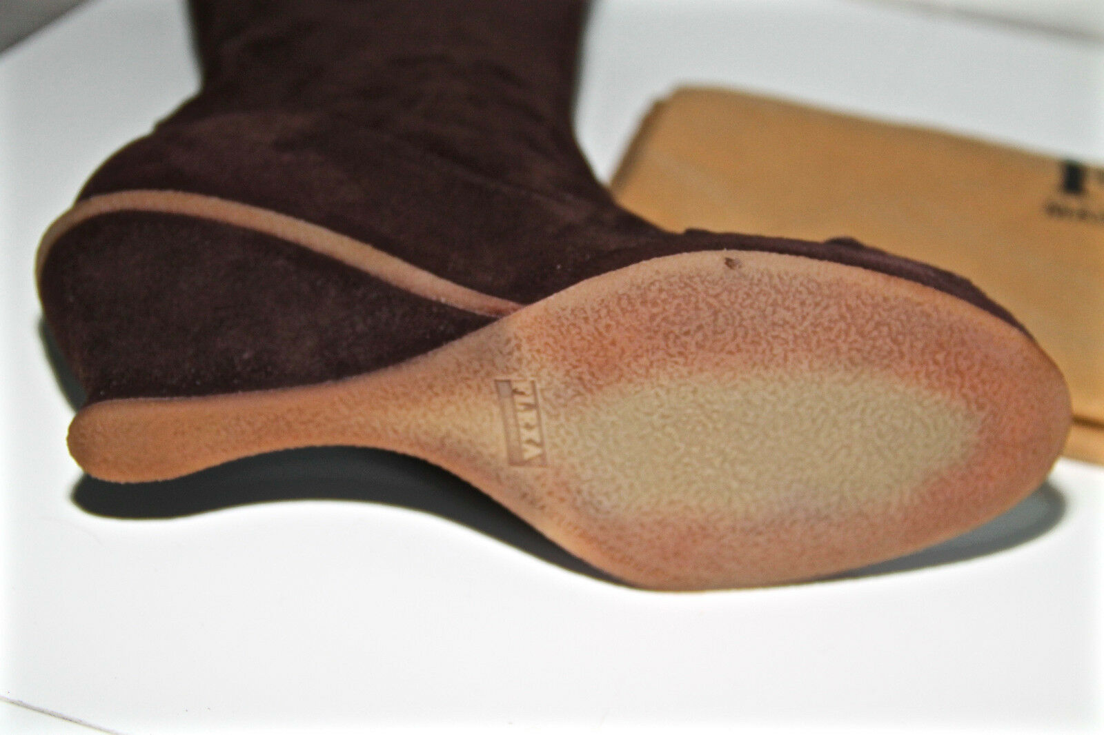 Luxurious Stiefel wedge suede NEW Braun FRATELLI ROSSETTI P. 39 NEW suede val 0ace80