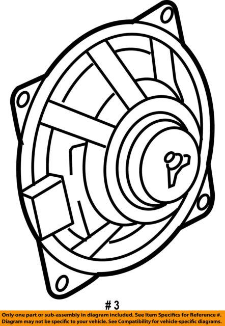 2010 Volkswagen Jetta Front Door Midrange Treble Speaker 1k0035411