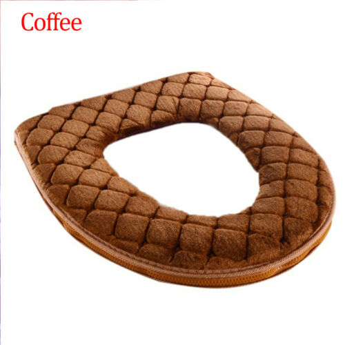 Soft Warmer Plush Toilet Seat Cover Lid Pad Coral Velvet Home Bathroom Supplies