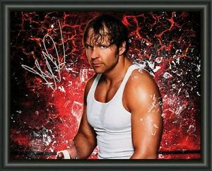 wwe dean ambrose a4 signed autographed photo poster free post ebay