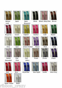 5-Metres-of-woven-edge-double-sided-quality-satin-ribbon-in-4-widths-32-colours