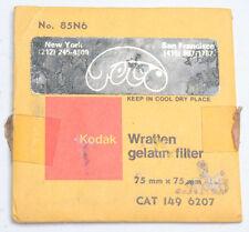 "Kodak 85N6 Wratten Gelatin Filter - 75mm x 75mm 3x3"" Square Old SEALED F30D"