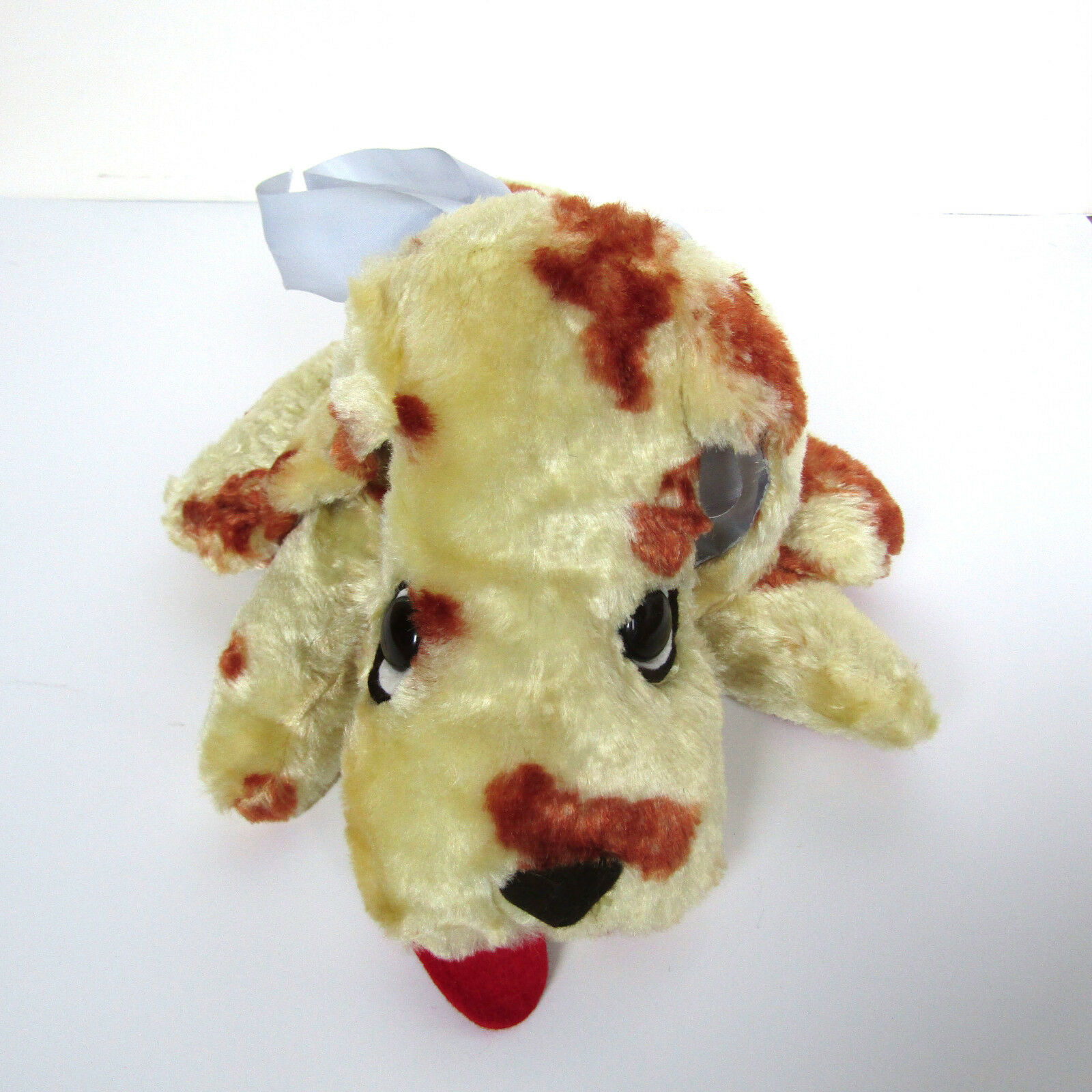 Vtg 50s PUPPY DOG STUFFED ANIMAL Wool Plush Young & Gay Toy NY 1950s