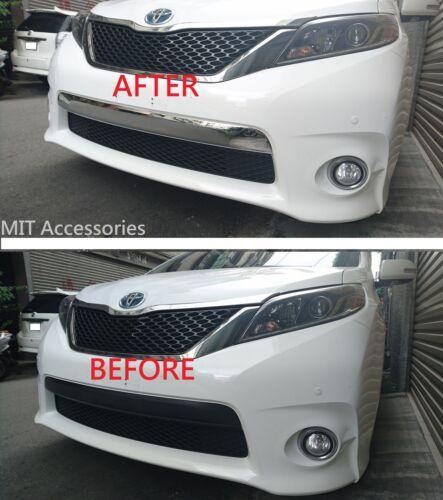 MIT TOYOTA SIENNA 2011-2017 front bumper LICENSE cover chrome garnish trim-SE