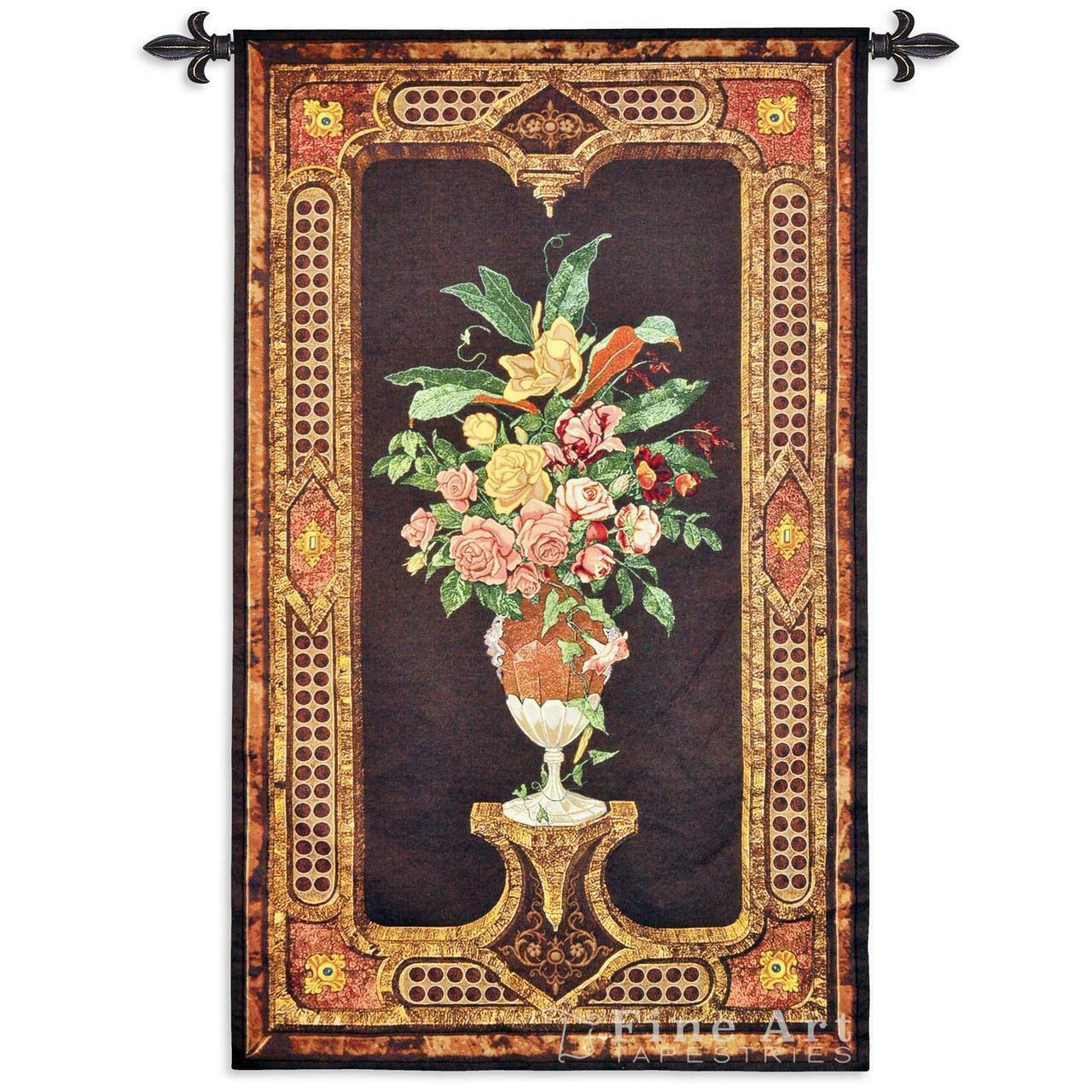 Anemone Tapestry Wall Hanging - Classic Ornamental Design with flowers 34  x 57