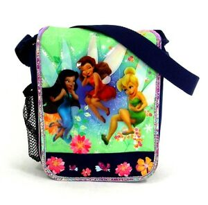 Details About Tinkerbell And Fairies Insulated Messenger Lunch Bag Lunchbox New