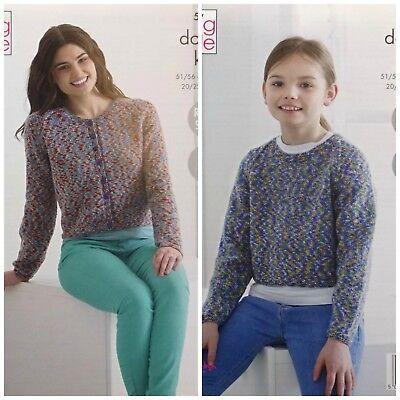 Girls sweater easy knitting pattern in DK..Girls jumper 28 24 30 in. 22 26