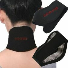 Self Heating Tourmaline Magnetic Neck Heat Therapy Support Belt Wrap Brace pain