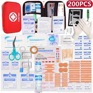 HONYAO Kit di Pronto Soccorso, Scatola di Emergenza Medica Completa, Borsa di
