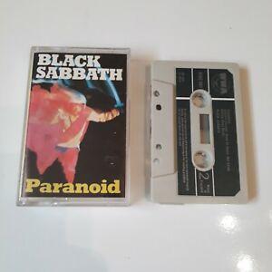 BLACK-SABBATH-PARANOID-CASSETTE-TAPE-1973-GREEN-PAPER-LABEL-WWA-UK