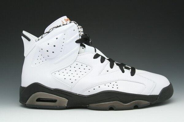 2010 Nike Air Jordan 6 VI Retro Motorsport White Black Size 9.5. 395866-101