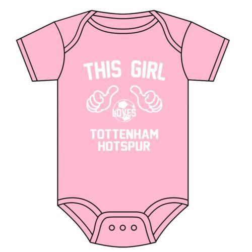 0-18 MONTHS NEW TOTTENHAM HOTSPUR BABYGROW BABY VEST THIS GIRL LOVES SPURS F.C