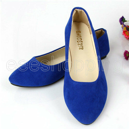 Women Dolly Shoes Slippers Loafer Outdoor Moccasins Ballet Slip-on Flat Sz:35-41