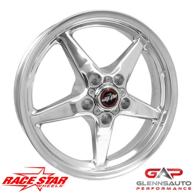 Race Star 92 Drag Star BLK 17x9.5 5x115BC 6.125BS 92-795452B Challenger Charger