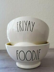 BRAND-NEW-Rae-Dunn-by-Magenta-FRIYAY-FOODIE-Bowls-Farmhouse-Home-Decor