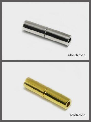 5 mm cierre joyas cierre Cierre magnético para cintas Ø 2//2 mv-3 5//3//4