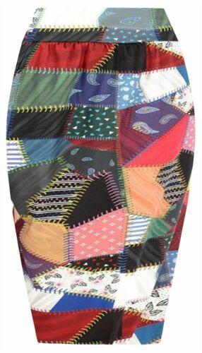 Plus Size Womens Pencil Skirt Ladies Floral Tube Midi Skirt Office Uniform 8-24