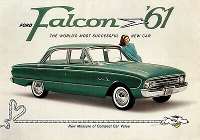 40 MIL Thick Refrigerator Magnet 1961 Ford Fairlane 500