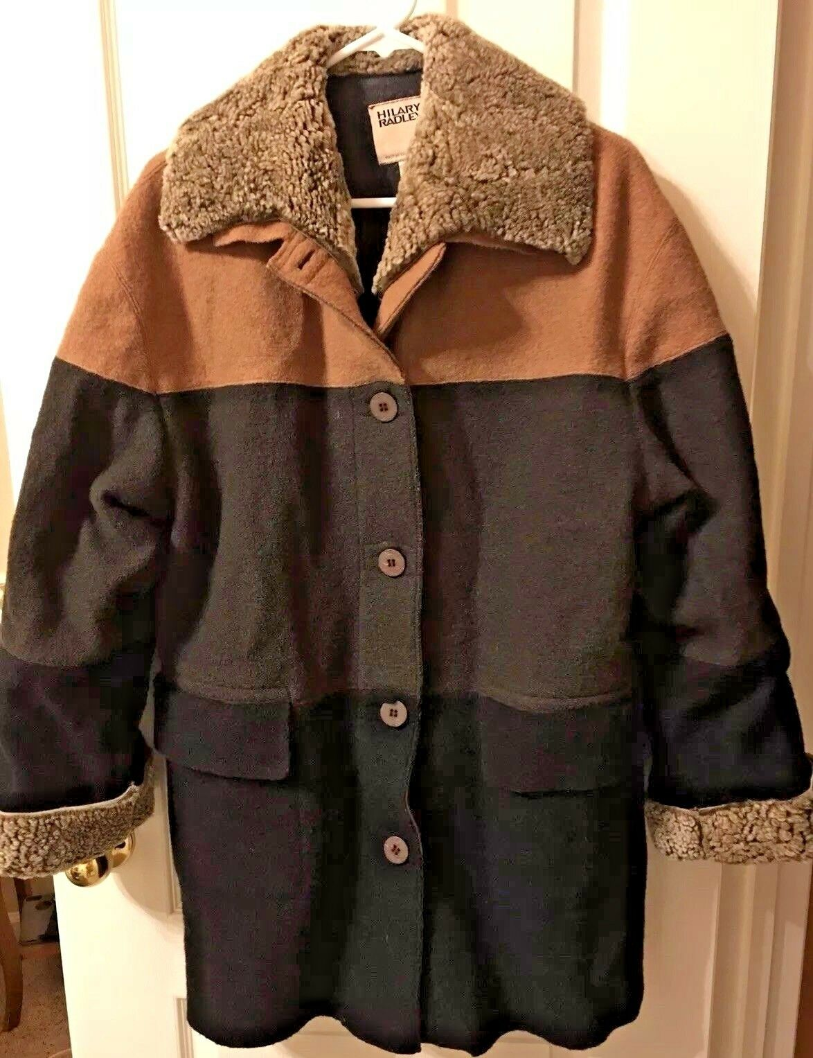 Hilary Radley Womens 100% 100% 100% Pure Wool Button Front Coat Size 2 87eefa