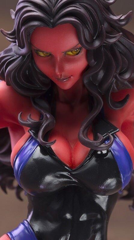 Kotobukiya Marvel rosso SHE-HULK Bishoujo Statue 2015 SDCC COMIC CON Exclusive