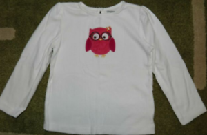 Gymboree NWT Ivory FALL HOMECOMING CUTEST OWL FLORAL GLASSES TOP SHIRT 12 18 M